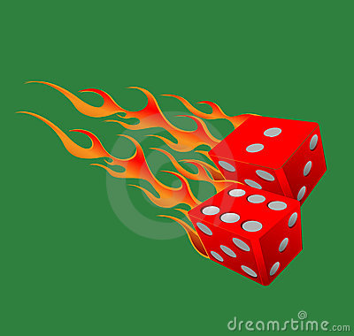 Dices on fire