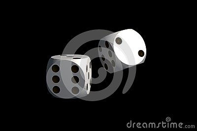 Dices - isolated on black