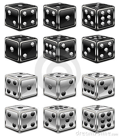 Dices on white
