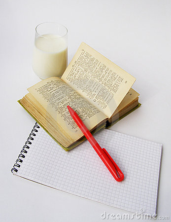 Free Dictionary And Red Pen Stock Photos - 2824763