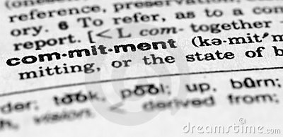 Dictionary entry for commitment