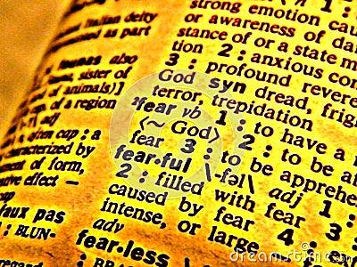 Dictionary fear