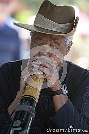 Didgeridoo Man Editorial Stock Image