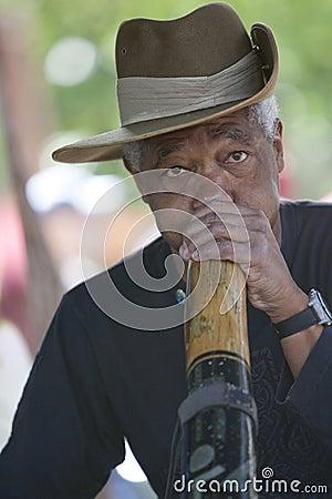 Didgeridoo Man Editorial Photography