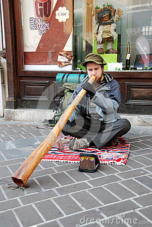 Didgeridoo player Editorial Stock Image