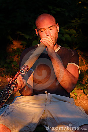 Free Didgeridoo Player Royalty Free Stock Images - 6176219