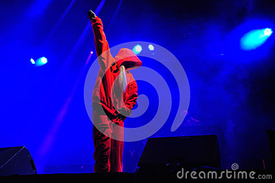 Die Antwoord performs live at Electric Castle Editorial Stock Image