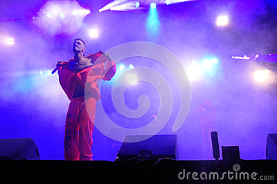 Die Antwoord performs live at Electric Castle Editorial Photo