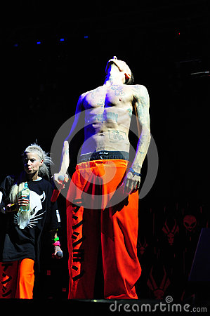 Die Antwoord performs live at Electric Castle Editorial Image