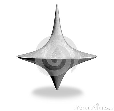 Die Cast Spinning Top Upright