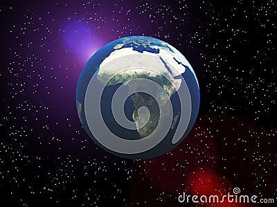 Die Erde im Platz