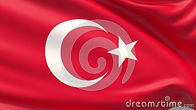 Die Flagge der Republik T?rkei, h?ufig gekennzeichnet als die t?rkische Flagge lizenzfreie abbildung