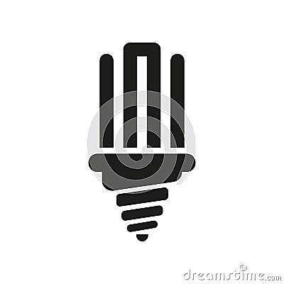 Die Leuchtstoff Glühlampeikone Lampe Und Birne, Glühlampensymbol Ui ...