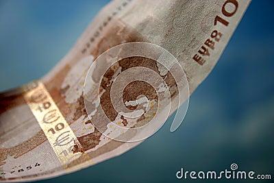 Die Nahaufnahme von 10 Euro