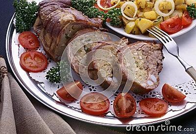 Die Platte mit Nahrung