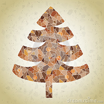 schmutz mosaik weihnachtsbaum gru karte. Black Bedroom Furniture Sets. Home Design Ideas
