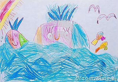 Die Zeichnung der Kinder