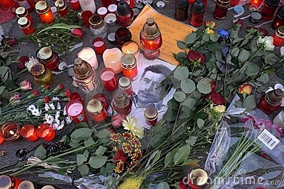 Died Czech ex-president Vaclav Havel. Editorial Stock Photo