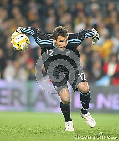 Diego Pozo Argentinian goalkeeper Editorial Stock Image