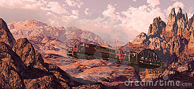 Diesel Locomotive In The Great Southwest