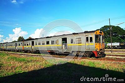Diesel rail car Editorial Stock Image
