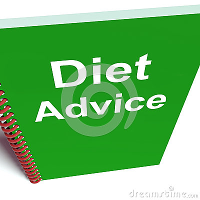 Diet Advice on Notebook Shows Healthy Diets