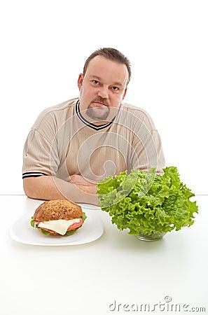 Diet choices concept