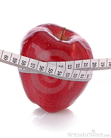 Diet concept with apple