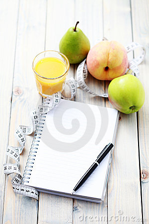 Free Diet Diary Royalty Free Stock Photos - 11253038