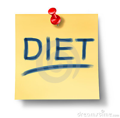 Diet and healthy eating symbol