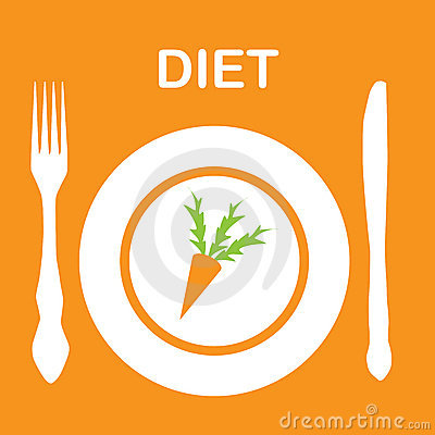 Diet icon.  illustration