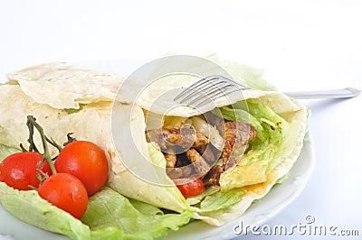 Diet kebab with vegetable