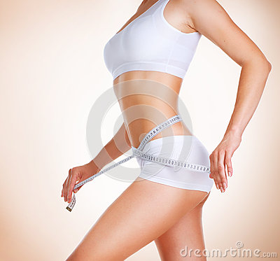 Free Diet. Perfect Slim Body Royalty Free Stock Photo - 25269095