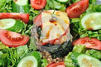 Diet Salad with beef