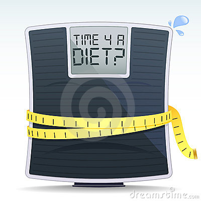Free Diet Scales Royalty Free Stock Image - 21892296