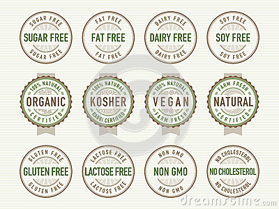Diet stamps and seals