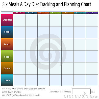 Diet Tracking Chart Stock Images Image 23244384