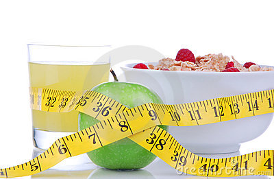Diet weight loss concept with tape measure