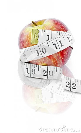 Diet and weight loss concept on white background
