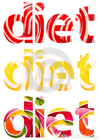 Diet Words Abstract