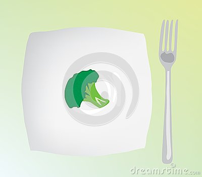 A dietary food. Dietary cabbage on a plate