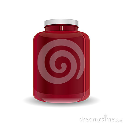 Dietary Supplement Red Bottle