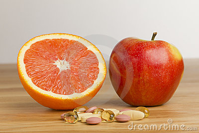 Dietary supplement vs fruits
