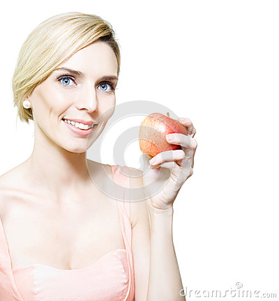 Dietician Or Nutritionist Holding Fruit