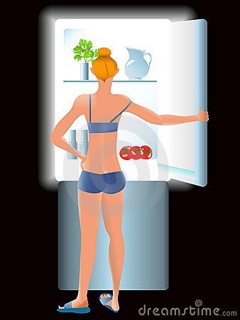 Dieting skinny girl