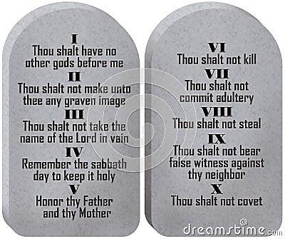 Diez tablillas de los mandamientos