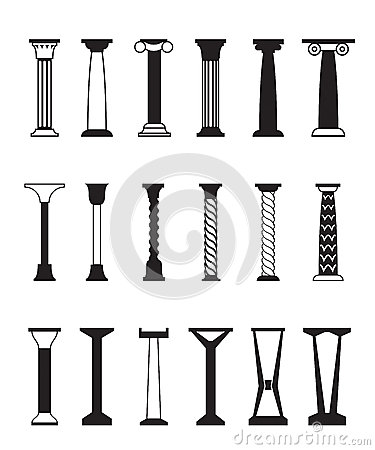 Diff rents types de colonnes images stock image 35347874 - Differents types de ventilation ...