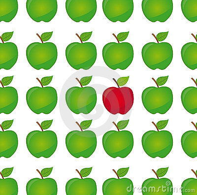 Difference apple vector