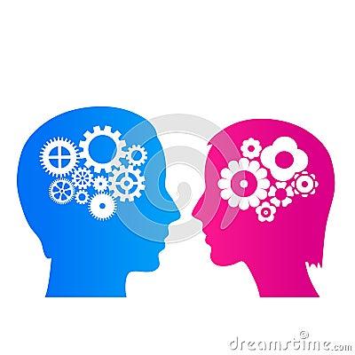 Man and woman thinking