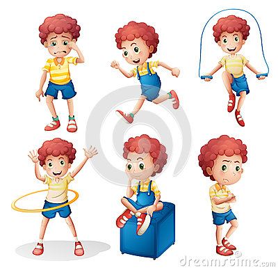 Free Different Activities Of A Young Man Royalty Free Stock Photo - 39485355